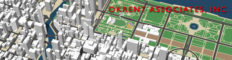 3d model of the city of Chicago created by Okrent Associates3d model of the city of Chicago created by Okrent Associates